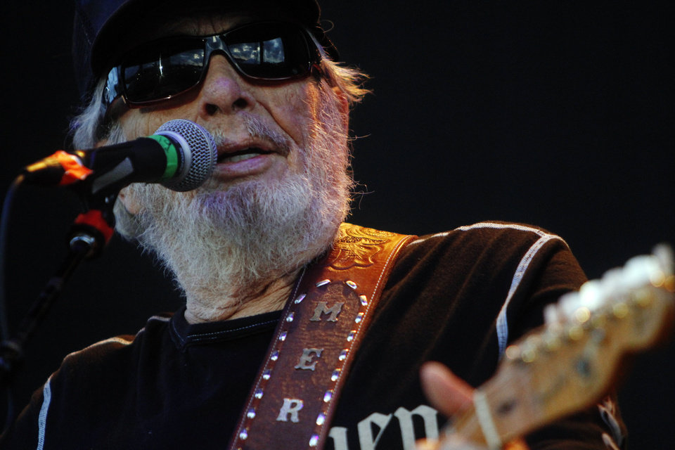 Photo -  Merle Haggard performs June 27, 2014, at OKC Fest in downtown Oklahoma City. [Oklahoman Archives Photo]