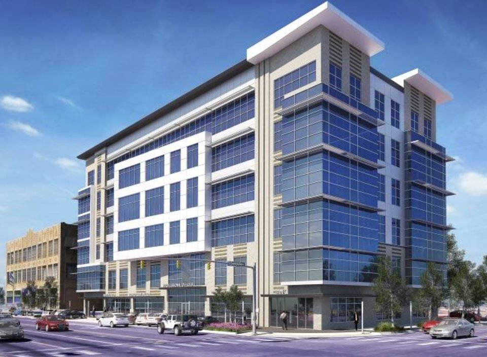 Photo -  A five-story office and retail building at NW 13 and Broadway is part of a mixed-use development being planned by developer Richard Lebarthe. [rendering by rba architecture]