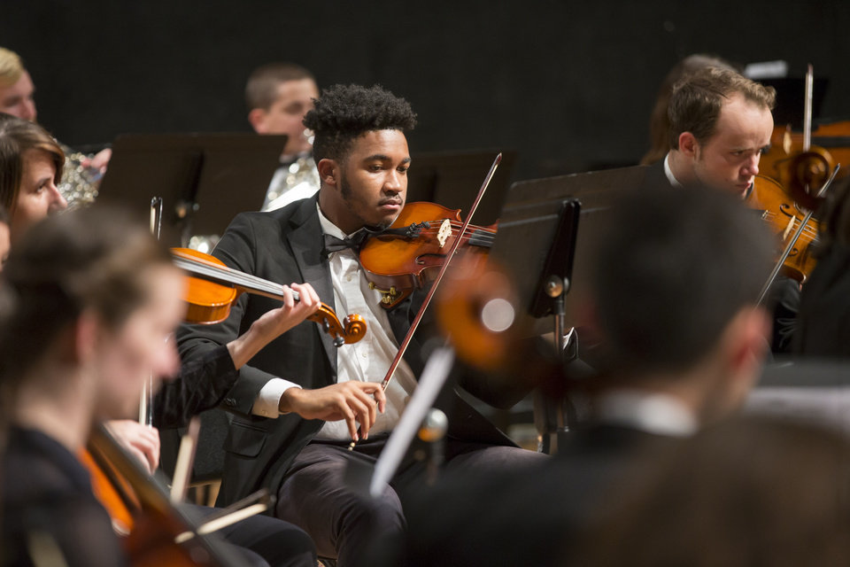 Photo - Students in OSU's Department of Music will have the opportunity to gain professional experience by performing with the Tulsa Symphony Orchestra. OSU/Phil Shockley