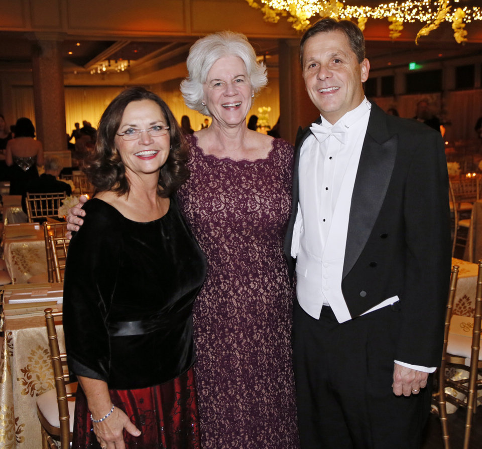 Photo -  Kathy Steffen, Joyce Collings and Sean Trauschke. PHOTO BY NATE BILLINGS, THE OKLAHOMAN