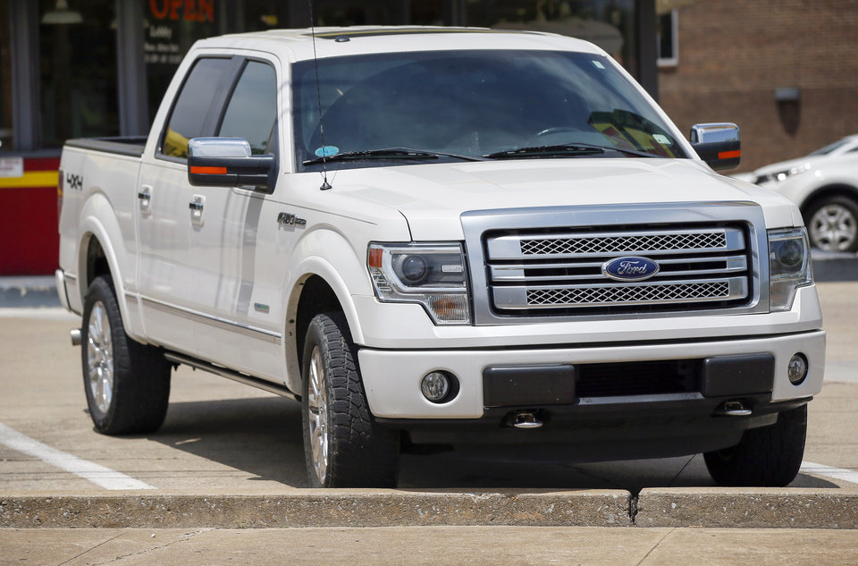 Photo -  A Ford F-150 truck in Oklahoma City. [Photo by Nate Billings, The Oklahoman]