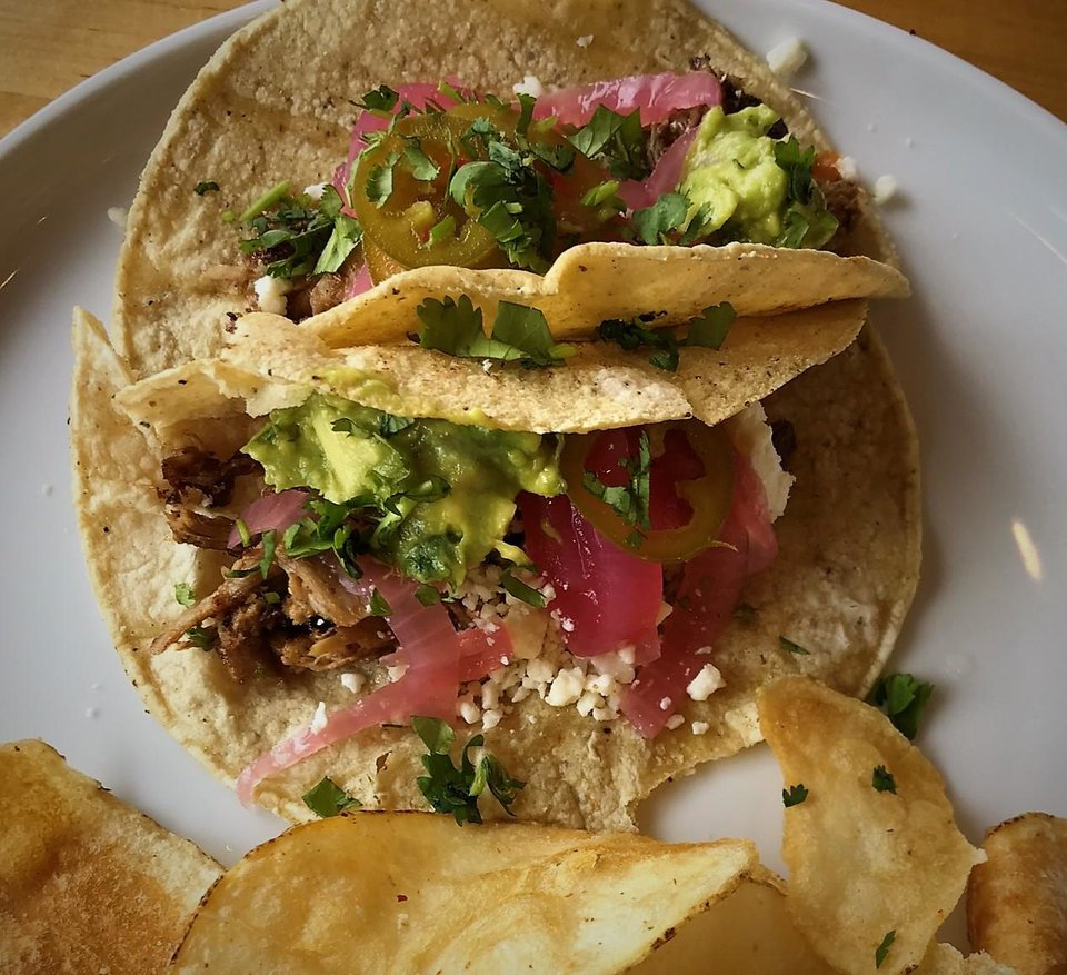 Photo - Day tacos at Stitch Cafe. [Dave Cathey/The Oklahoman]