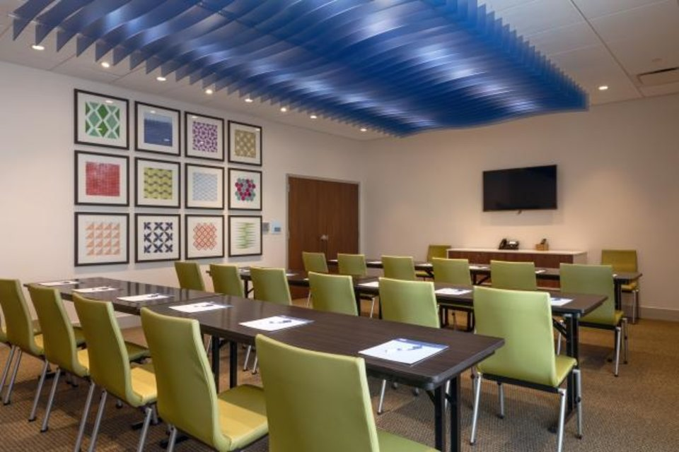 Photo -  A meeting space in the 116-room Holiday Inn Express & Suites. [PROVIDED BY THE ROSS GROUP]