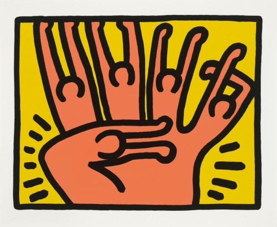 Photo -  Keith Haring's 1989 screenprint