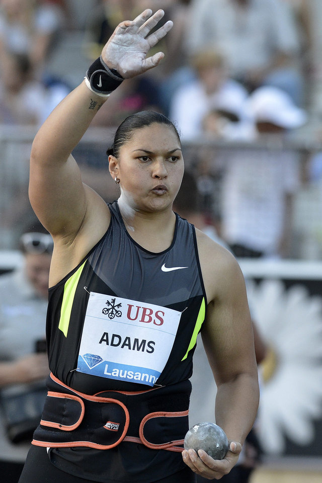 Photo - Steven Adams' sister, Valerie, is a two-time Olympic Gold medalist in the shot put. (AP Photo/Keystone, Peter Schneider)