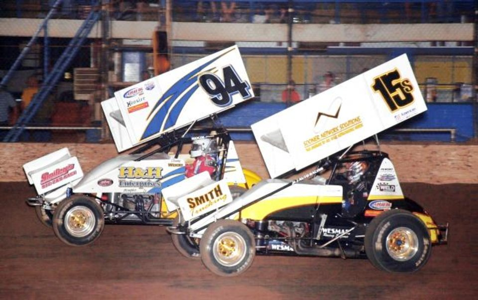 Danny Wood No 94 Has Won 12 American Sprint Car Series Feature Races Including Eight Nationals