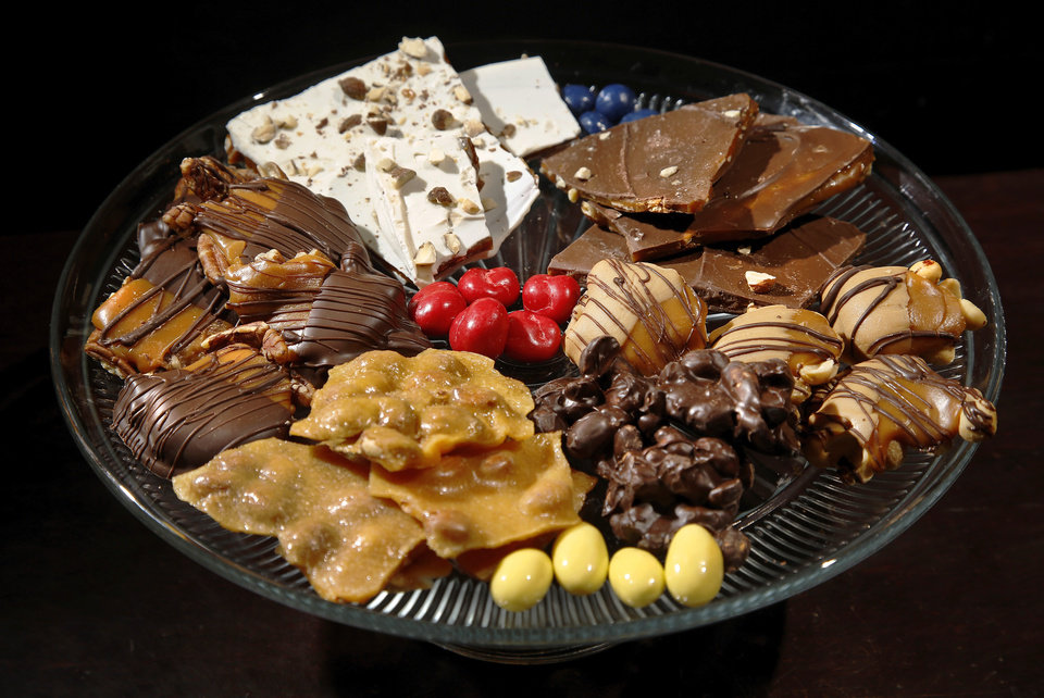 Photo - A tray of various confections offered to customers at Woody Candy Co., 922 NW 70.  Photo by Jim Beckel, The Oklahoman  Jim Beckel -  THE OKLAHOMAN