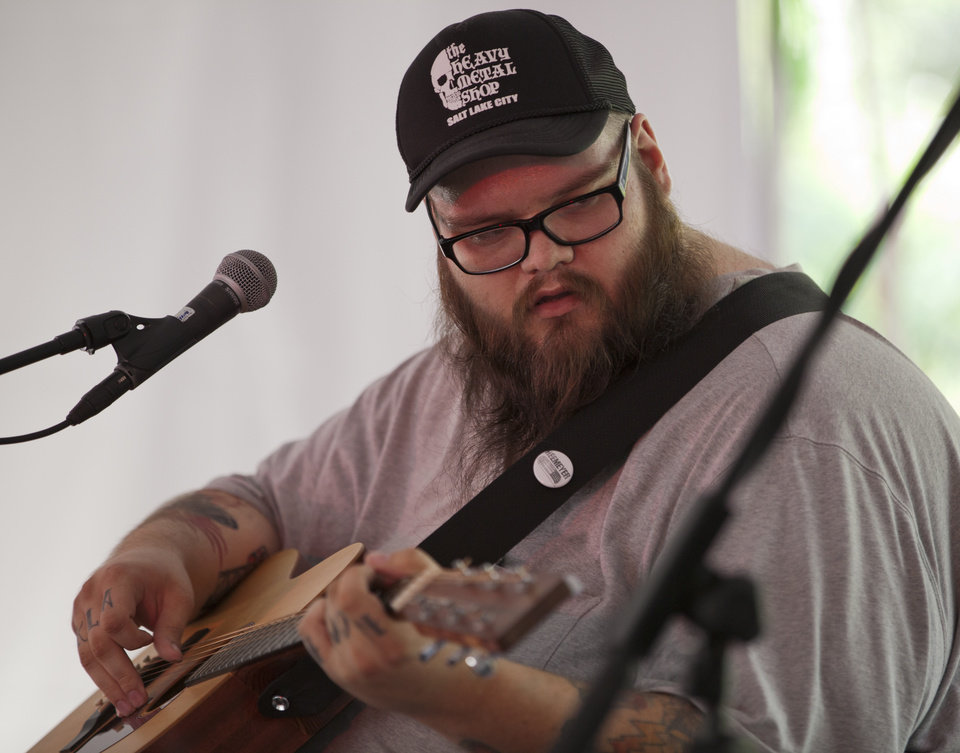 Photo -  John Moreland performs live at OKCFest in 2014. Photo by Nathan Poppe, The Oklahoman