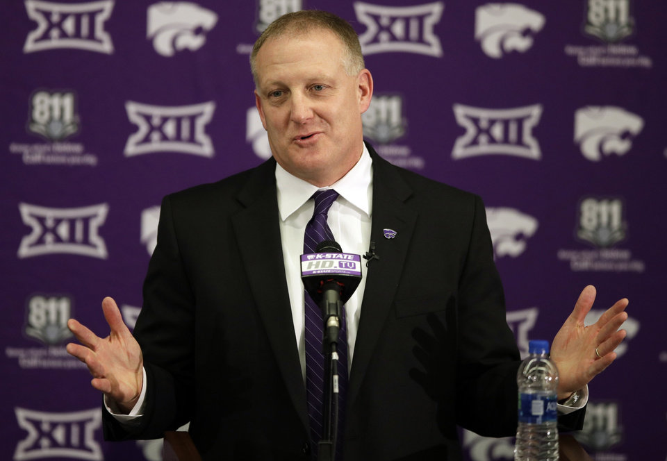 Photo -  Chris Klieman replaces Bill Snyder as head coach at Kansas State. [AP Photo/Orlin Wagner]