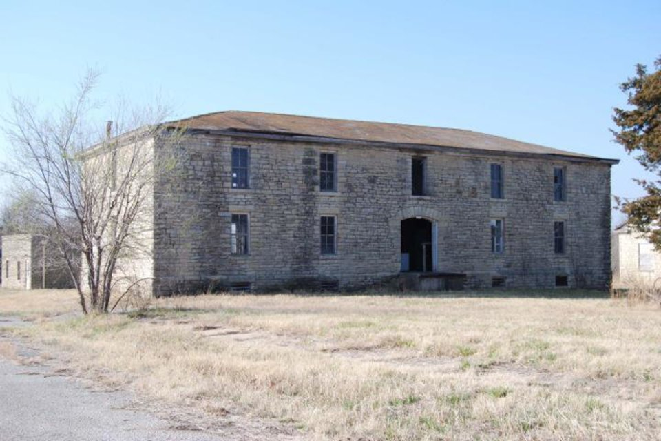 Photo -  The Chilocco Indian Agricultural School near the Kansas border was designated one of Oklahoma's most endangered historic places in 2007. [Photo provided by Oklahoma State Historic Preservation Office]
