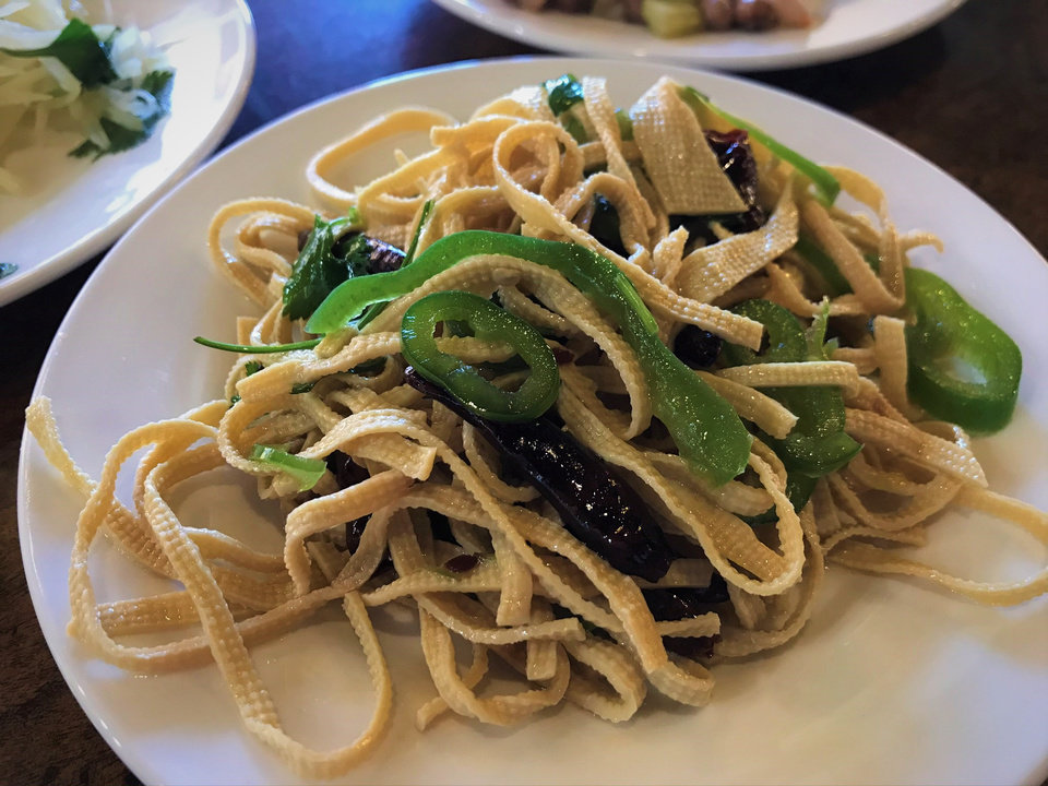 Photo - Marinated tofu noodles from Northern Noodle House in Oklahoma City. [Dave Cathey/The Oklahoman]