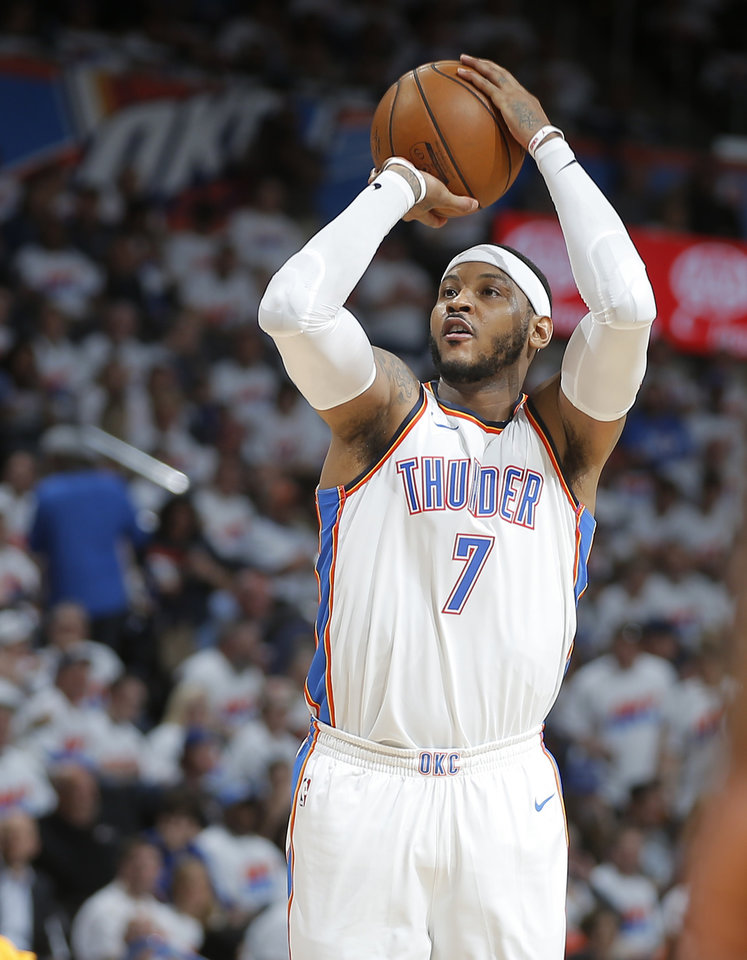 Photo -  If Carmelo Anthony doesn't exercise an early-termination option in his contract, the Thunder would owe him $27.9 million next season. [PHOTO BY BRYAN TERRY, THE OKLAHOMAN]