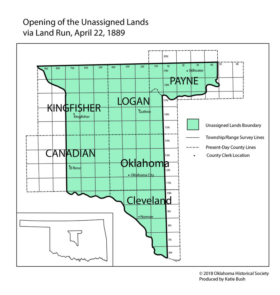 Photo -  A map of the Unassigned Lands from