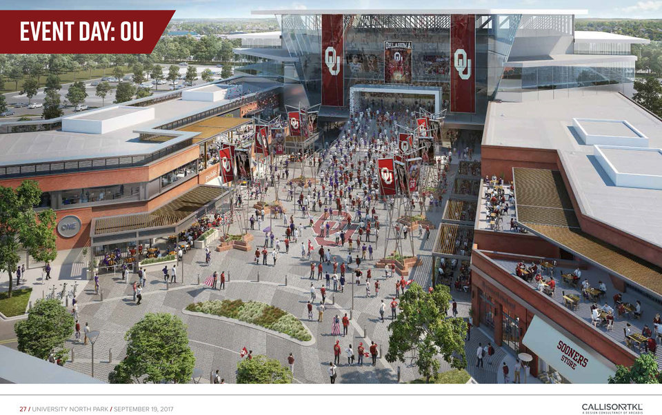 Photo -  A proposed economic development project includes a 10,000-seat arena in north Norman that could entice the Sooner basketball teams. [RENDERING PROVIDED]