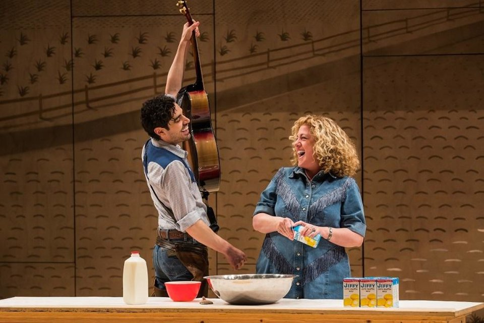 Photo - Damon Daunno stars as Curly and Mary Testa as Aunt Eller in the Broadway revival of
