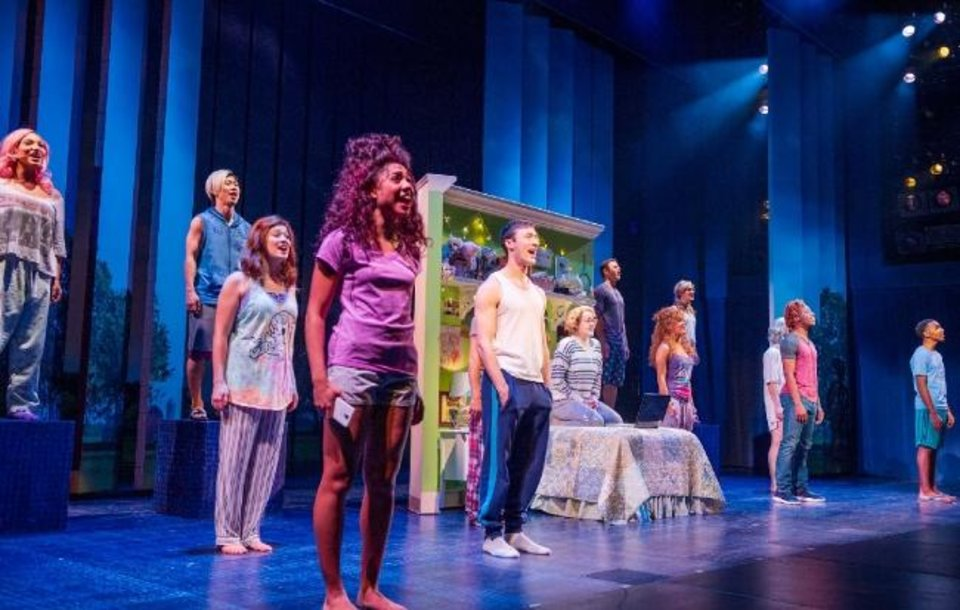 Photo -  Caitlin Kinnunen, center, and the ensemble of the Broadway musical
