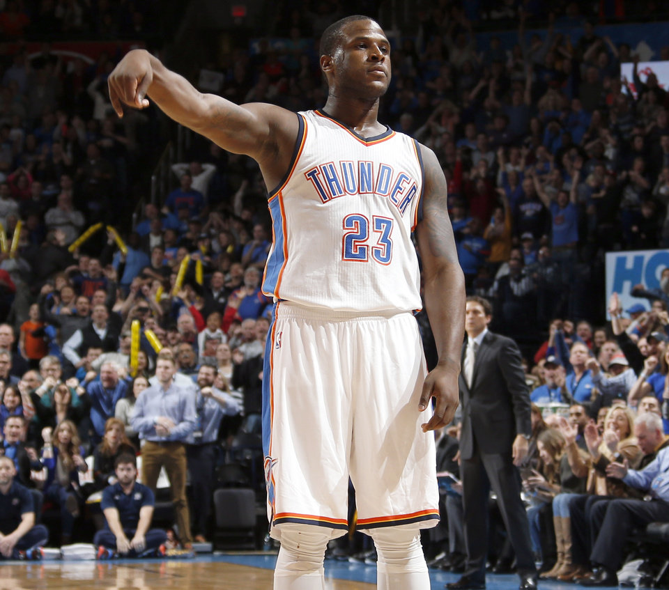 Photo -                    Thunder guard Dion Waiters has one year left on his rookie contract.                     Photo by Sarah Phipps, The Oklahoman