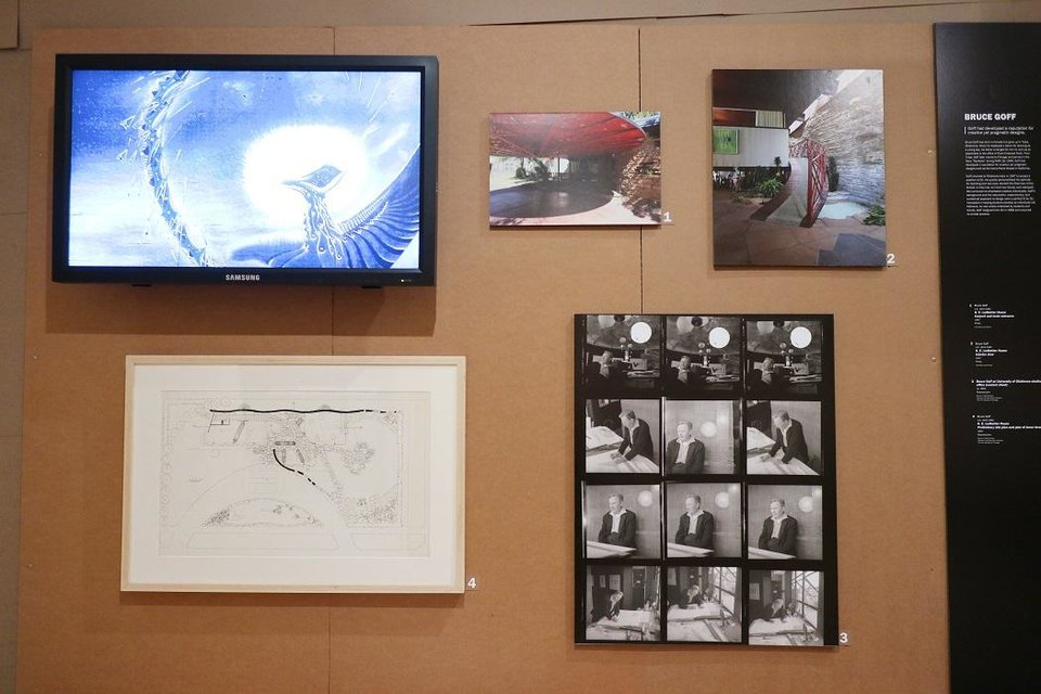 Photo - A display devoted to the work of Bruce Goff is included in