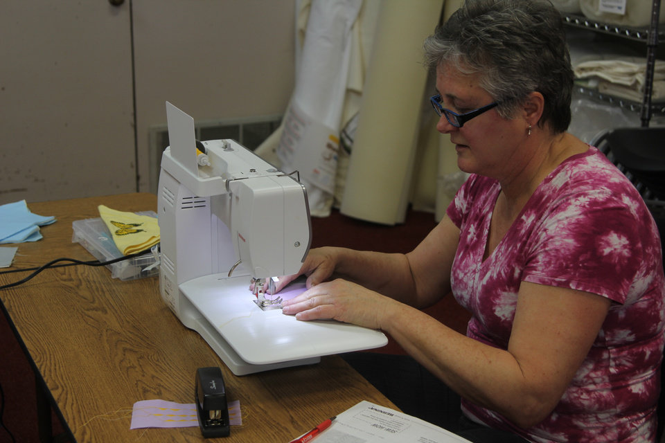 Photo - A student at Bernina OKC is learning new sewing skills. Photo: Michaela Marx Wheatley.