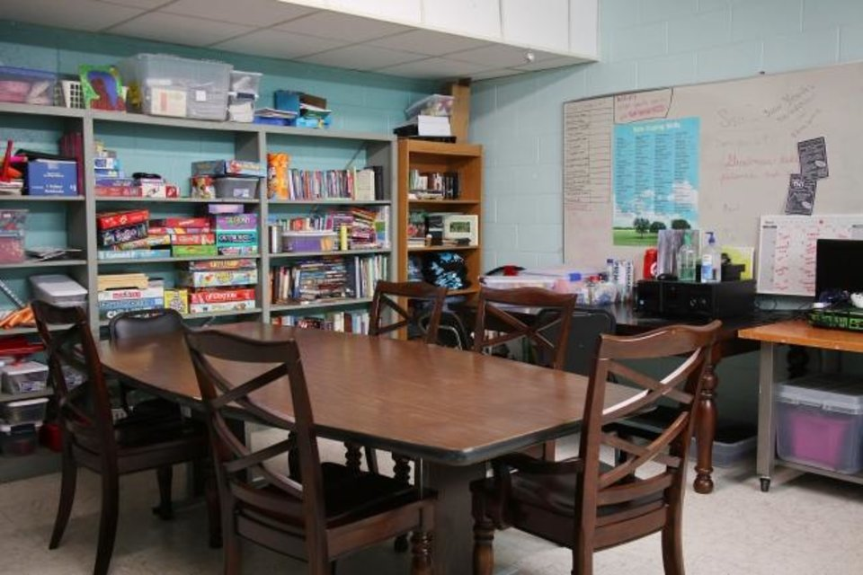 Photo -  A Sisu Youth Services rec room room is seen on Feb. 26.  [Doug Hoke/The Oklahoman]