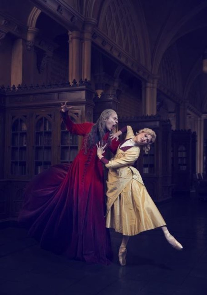 Photo -  Principal dancers Alvin Tovstogray and Amy Potter appear in a promotional photo for Oklahoma City Ballet's upcoming production of Michael Pink's