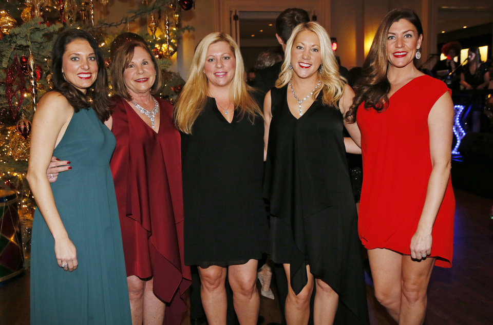 Photo -  Janna Koehn, Lynne Alexander, Julie LeBlanc, Jacey Massey and Jill Hodges. PHOTO BY NATE BILLINGS, THE OKLAHOMAN