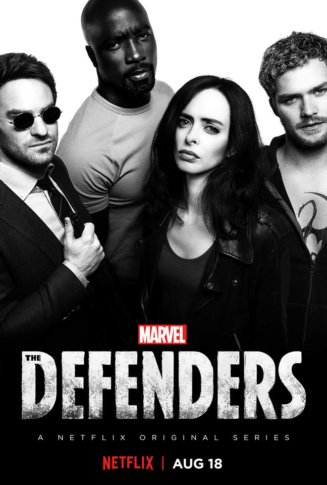 Photo -  Charlie Cox, Mike Colter, Krysten Ritter and Finn Jones star in