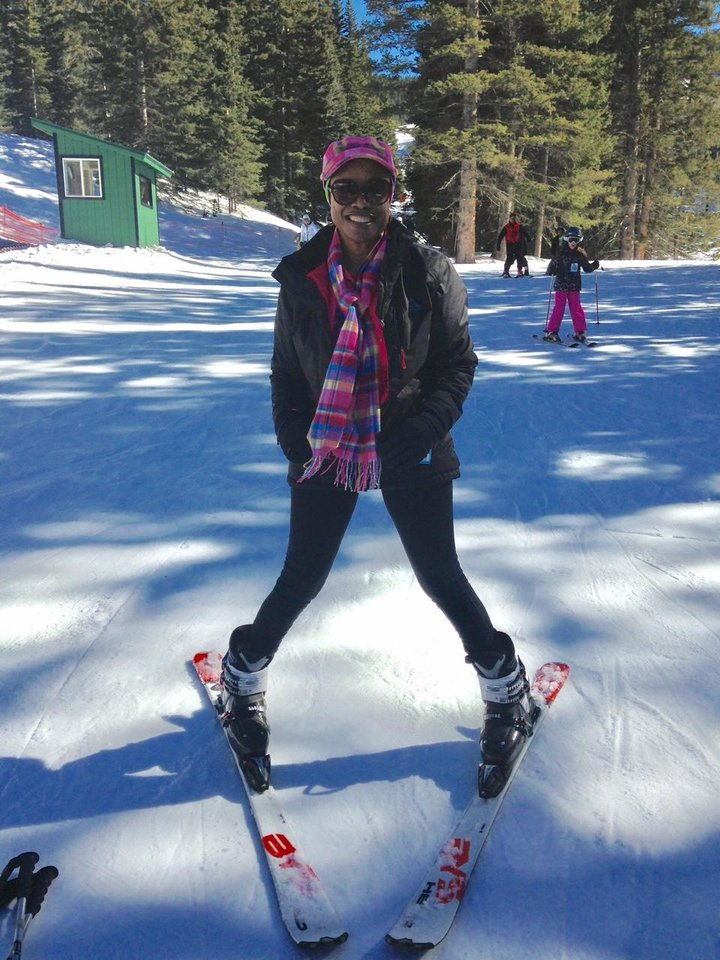 Photo -  After two days of ski lessons, Clytie Bunyan skis — unaided.[Photo provided]