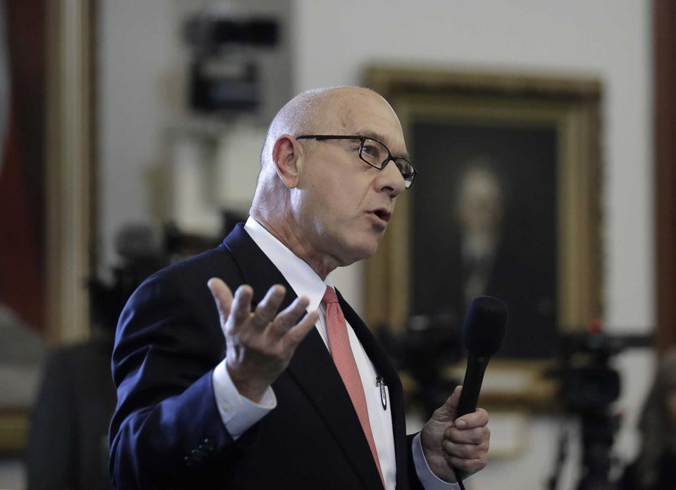 Photo -  Sen. John Whitmire, D-Houston, speaks at the Texas Senate on Feb. 7, 2017, at the Texas Capitol in Austin, Texas. [Photo by Eric Gay, Associated Press]