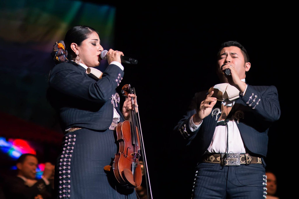 Photo -  San Antonio, Texas-based band Mariachi Los Caporales performs at the Oklahoma City Community College Visual and Performing Arts Center Theater during the 2016 Anita Martinez Mariachi Festival. The second mariachi festival is set for Thursday-Feb. 10 with events at OCCC and Oklahoma Contemporary Arts Center. [Photo provided]