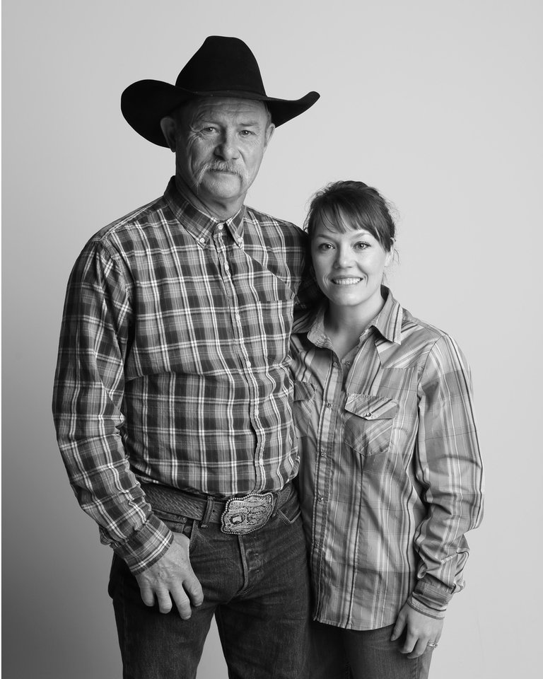 Photo - Cowboy cook and poet Kent Rollins and his wife Shannon, Monday, April 13, 2015. Photo by Doug Hoke, The Oklahoman.