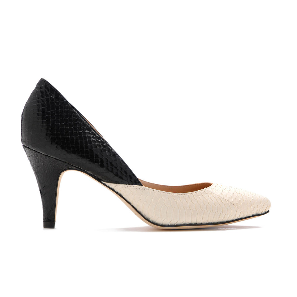 Photo - Two-tone Loeffler Randall Tamsin pump, sold at Heirloom Shoe. Photo provided.