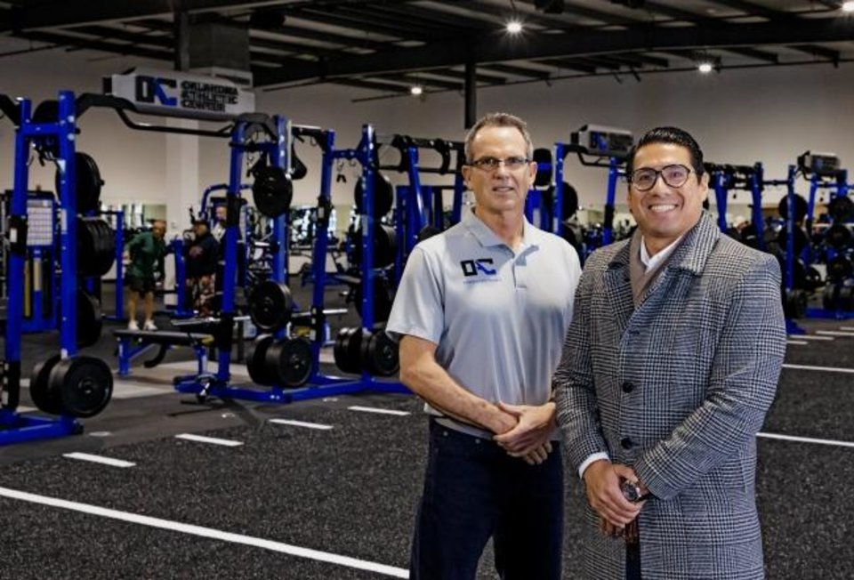 Photo -  Oklahoma Athletic Center's General Manager Brian Jamison and President Alex Aguilar provide a tour of the renovated Oklahoma Athletic Center at 3333 W Hefner Road. [CHRIS LANDSBERGER/THE OKLAHOMAN]