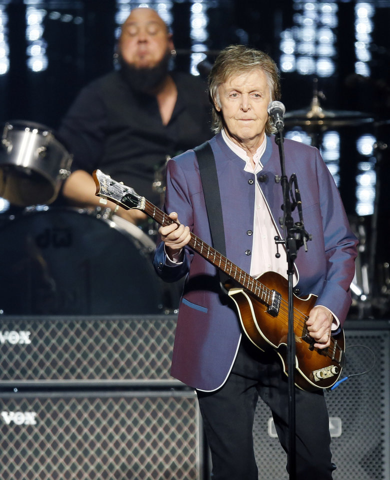 Photo -  Paul McCartney performs during his