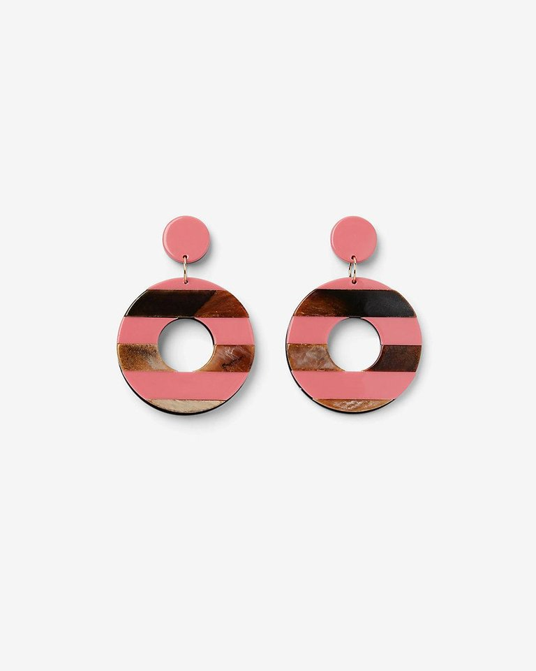 Photo - Striped resin earrings, $24.90, from Express.