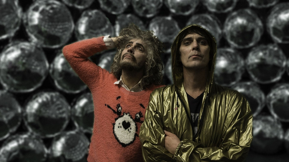 Photo -  Wayne Coyne, left, and Steven Drozd, of The Flaming Lips [George Salisbury]