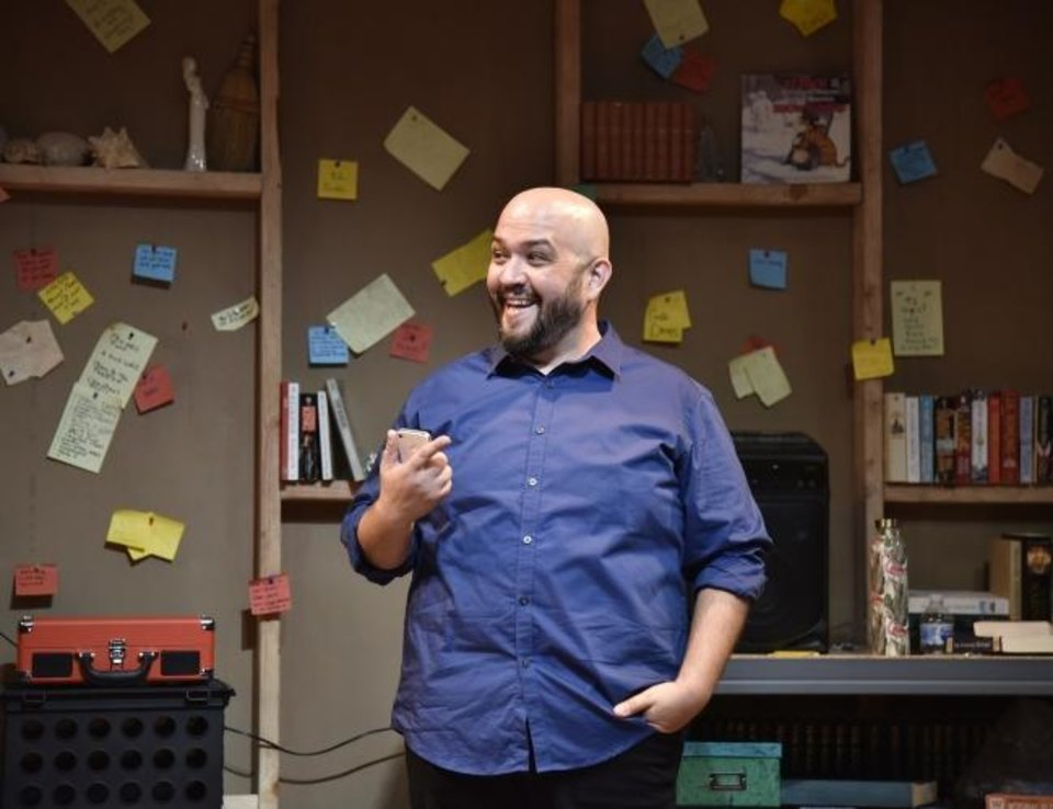 Photo -  Jon Haque stars in Oklahoma City Repertory Theatre's state professional premiere production of the imaginative and affecting one-man show
