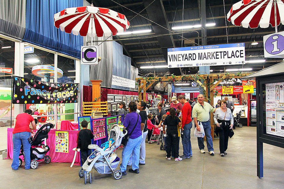 Photo - Fairgoers browse The CONNECTION inside the Oklahoma Expo Hall last year.  PHOTO PROVIDED BY THE STATE FAIR      ORG XMIT: 1208311820237261