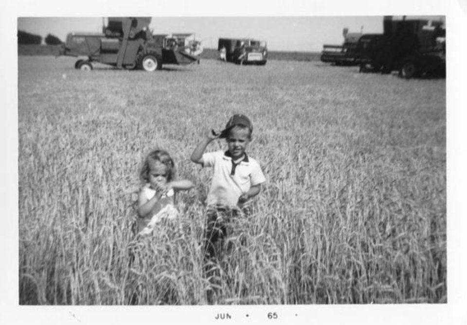 Photo -  Kamie Sallee and her brother, Kirk Benkendorf, play on their grandfather's farm in 1965. [PROVIDED]