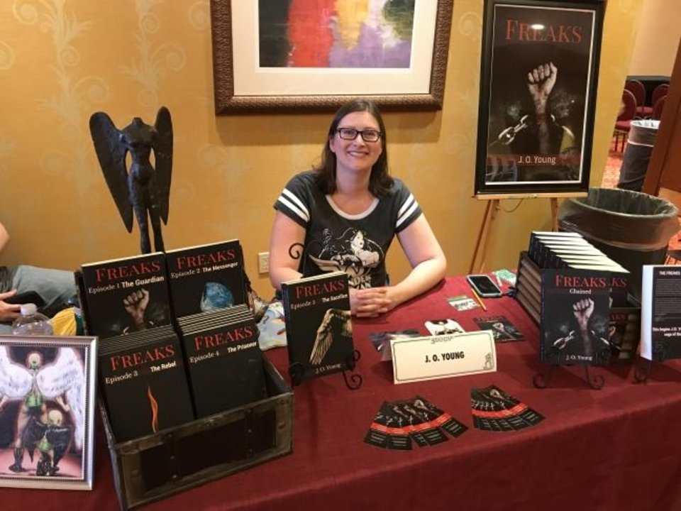 Photo -  Author J.O. Young promoted her