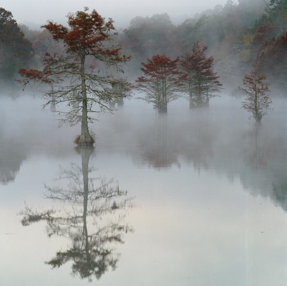 Photo - Mist rises off Mountain Fork River at Beavers Bend State Park. (OKLAHOMAN ARCHIVES)