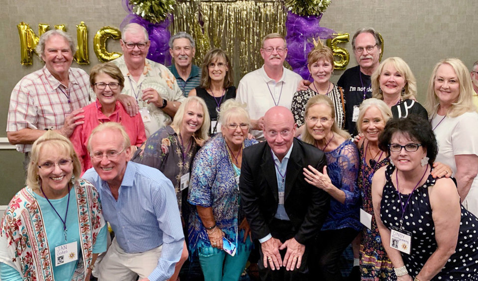Photo - Ron Matlock,  Terry Green Byers, Ben Byers, David Lutz, Diane Stotts Williamson, Bob Bergmann, Sue Suggs Reel, Bob Cornelison, Judy Colclasure Hall, Rhonda Fleming Bratcher, back; Jan Gates Brown, Kelly Brown, Barbara Breisch Hayes, Marcia Standefer Jaggers, Riley Cleaver, Anna Gatewood Cleaver, Cleda Hulett Spaeth, Cindy Montgomery Lower, front. PHOTO PROVIDED