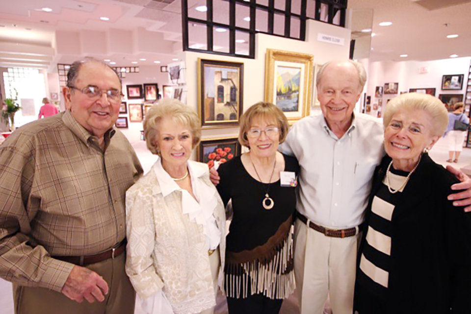 Photo - Lee and Fran Troiani, Henrie Close, Stan and Elizabeth Alexander. PHOTO PROVIDED