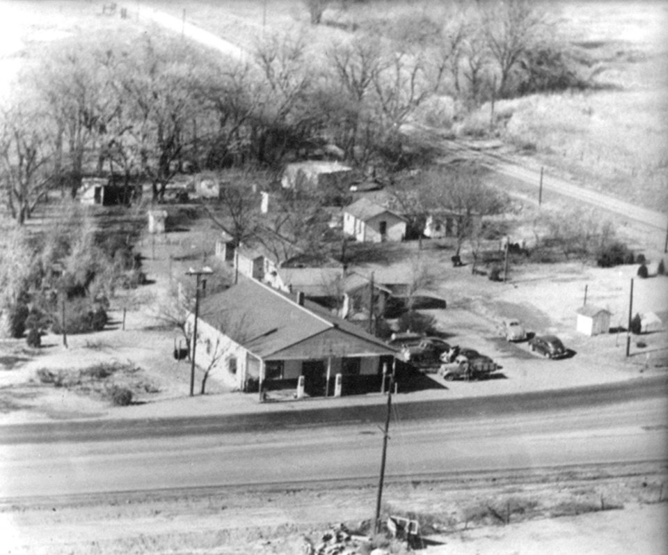 Photo -  Hollywood corners in the 1950s. The longtime business is on a semi-rural road in Norman. Photo provided   PHOTO PROVIDED