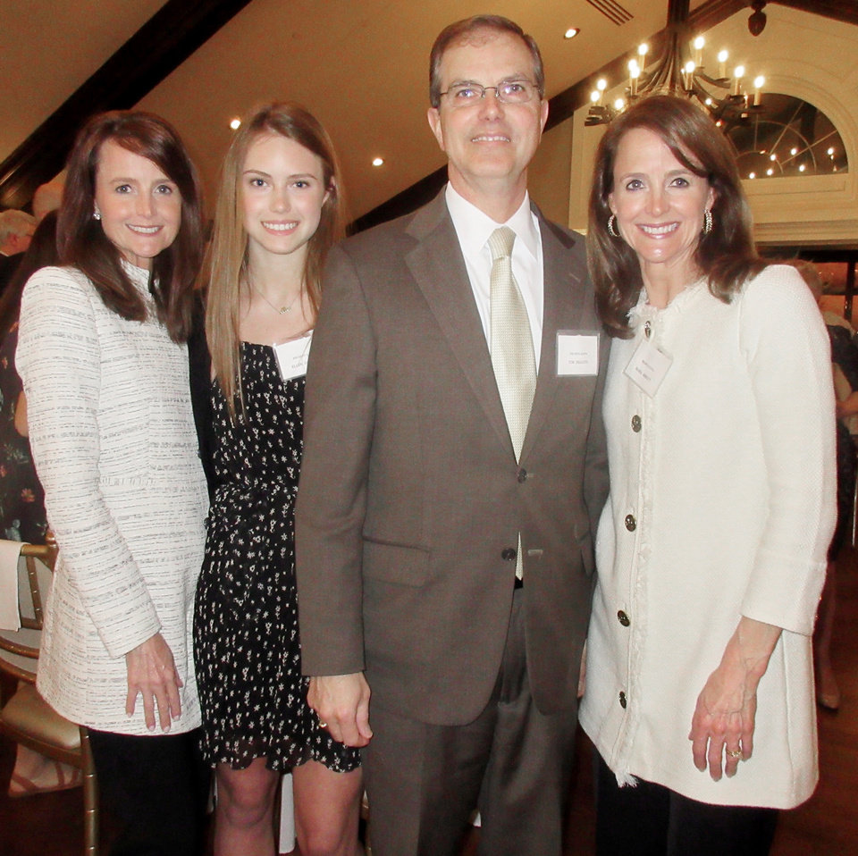 Photo - Elaine, Ellen and Judge Tim DeGiusti and Maria Abbott, PHOTO BY HELEN FORD WALLACE, THE OKLAHOMAN