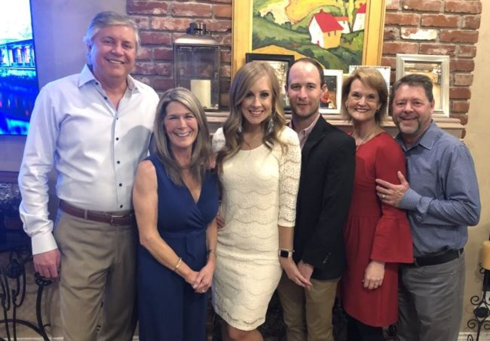 Photo -  Scott and Julie Cumbie, Kiley Bush, Mark Adams, Kelly and Chris Fry. [PHOTOS PROVIDED]