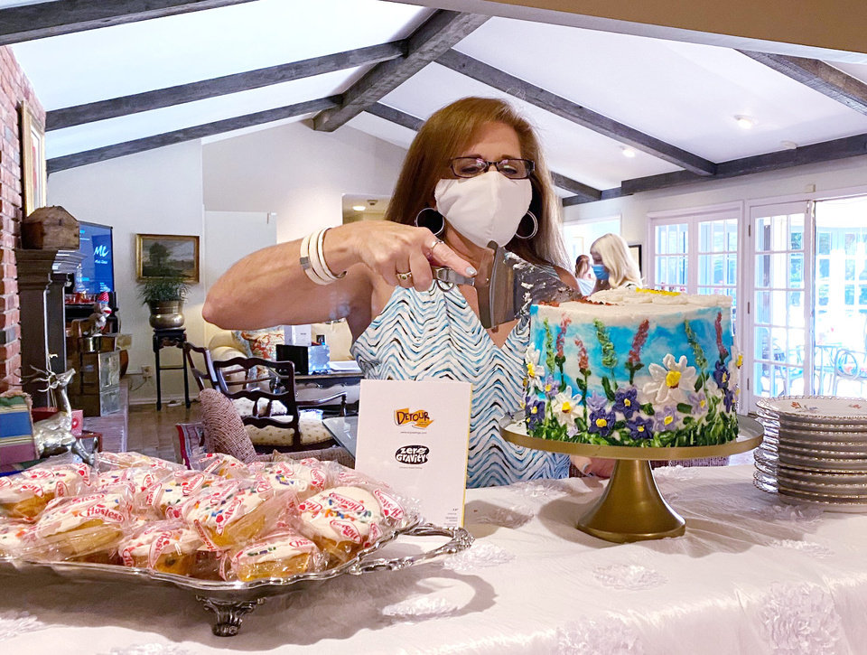 Photo - Sheila Drake, born in September herself, at the September birthday event in the Huff home. PHOTO PROVIDED