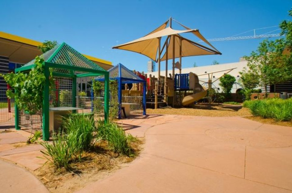 Photo -  Chesapeake Energy's child development center features an inviting playground for its students. [PROVIDED BY CHESAPEAKE ENERGY]