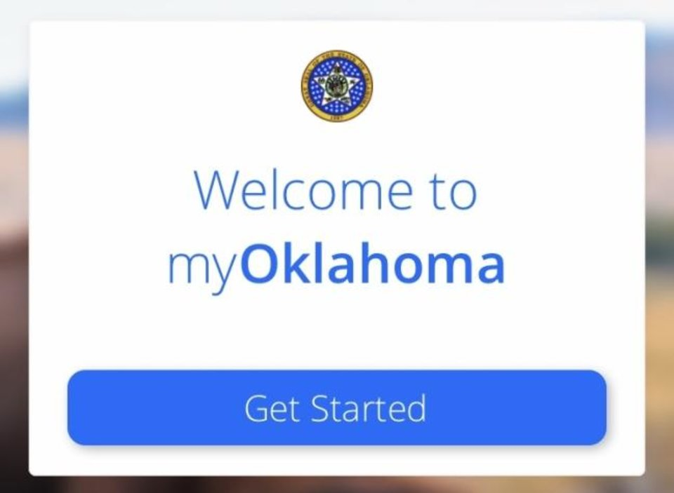Photo -  The myOklahoma app, available in the iTunes App Store and Google Play Store, allows Oklahomans to renew their vehicle registration and order a birth certificate online. [PROVIDED]