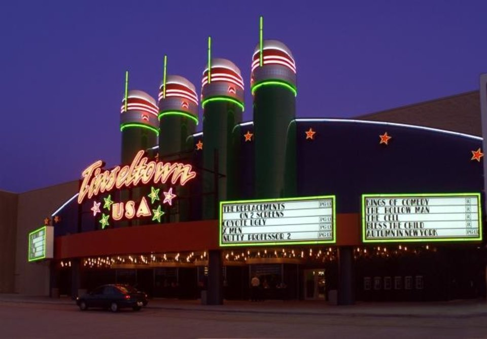 Photo -  The Tinseltown USA movie theater is shown in this file photo from 2000. [OKLAHOMAN ARCHIVES]